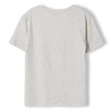 DALTON Heather Ecru Biker - Boy Knitted Jersey Short Sleeve T-Shirt 2