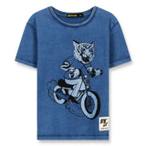 DALTON Kraft Blue Moto Tiger - Short Sleeves T-Shirt 1