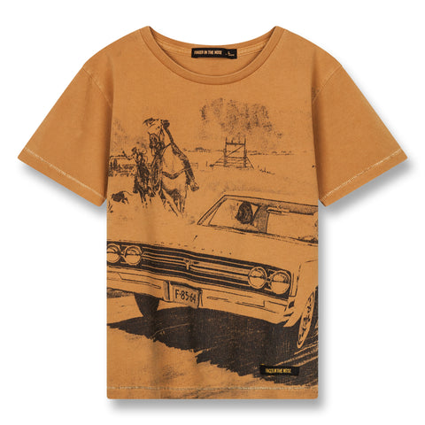 DALTON Ocher Western Car - Short Sleeves T-Shirt 1