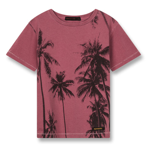 DALTON Plum Palms - Short Sleeves T-Shirt 1