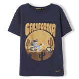 DALTON Super Navy Folk Moto - Boy Knitted Jersey T-Shirt 1