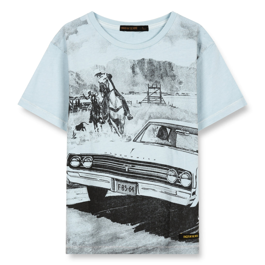 DALTON Wave Blue Western Car - Short Sleeves T-Shirt 1