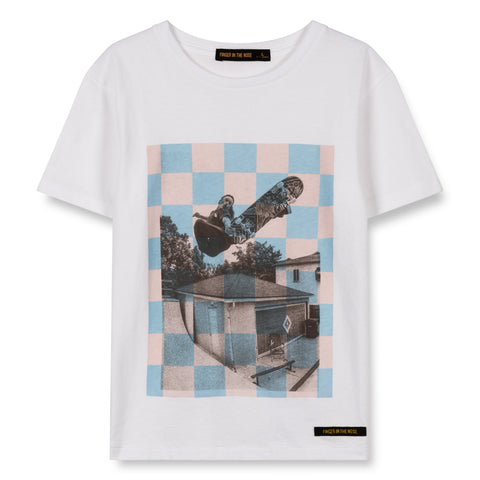 DALTON White Checkers Skate - Short Sleeves T-Shirt 1