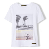 DALTON White Summer Skate - Boy Knitted Jersey Short Sleeve T-Shirt 1