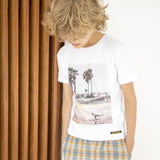 DALTON White Summer Skate - Boy Knitted Jersey Short Sleeve T-Shirt 2 js-nozoom