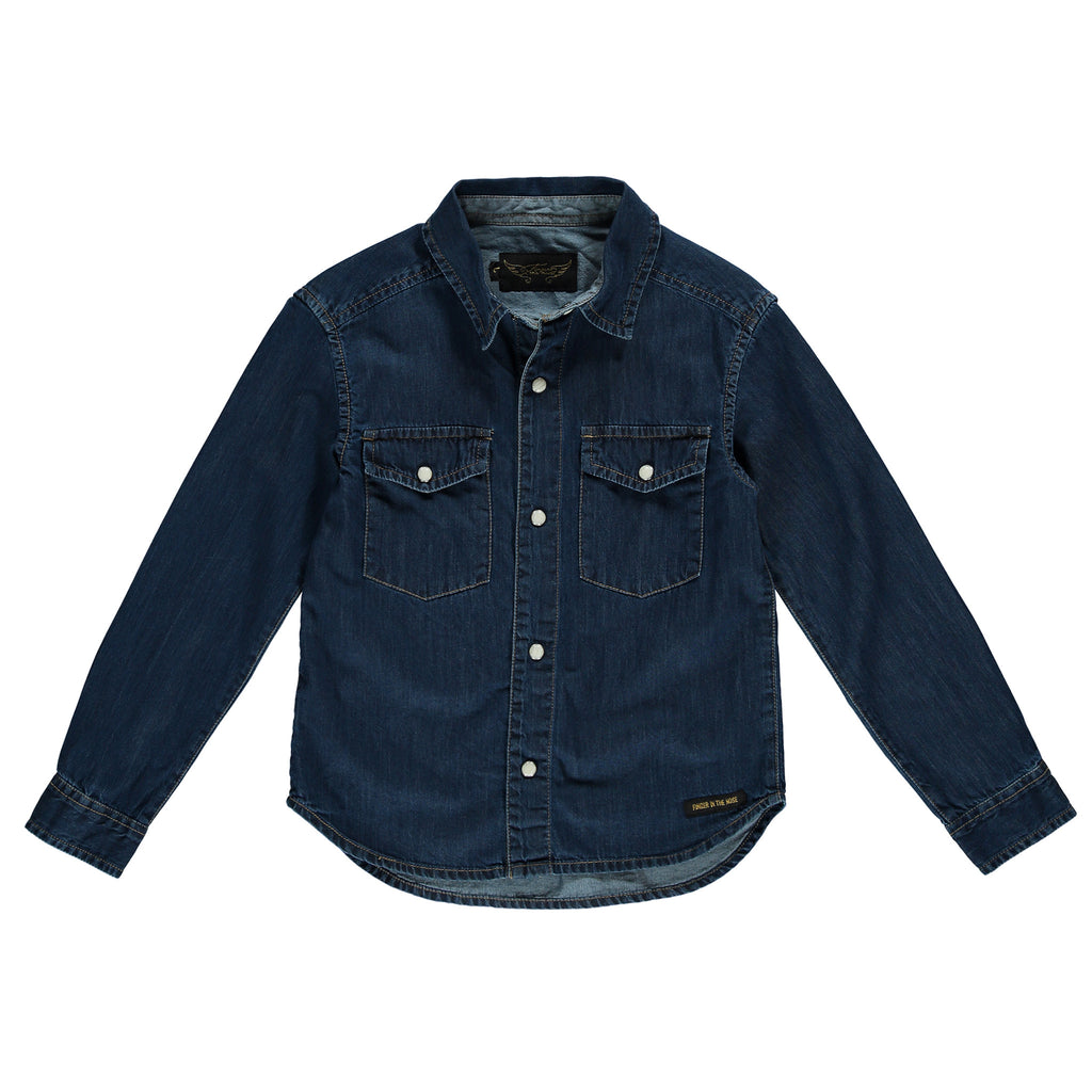 DAO Blue Denim - Unisex Denim Shirt