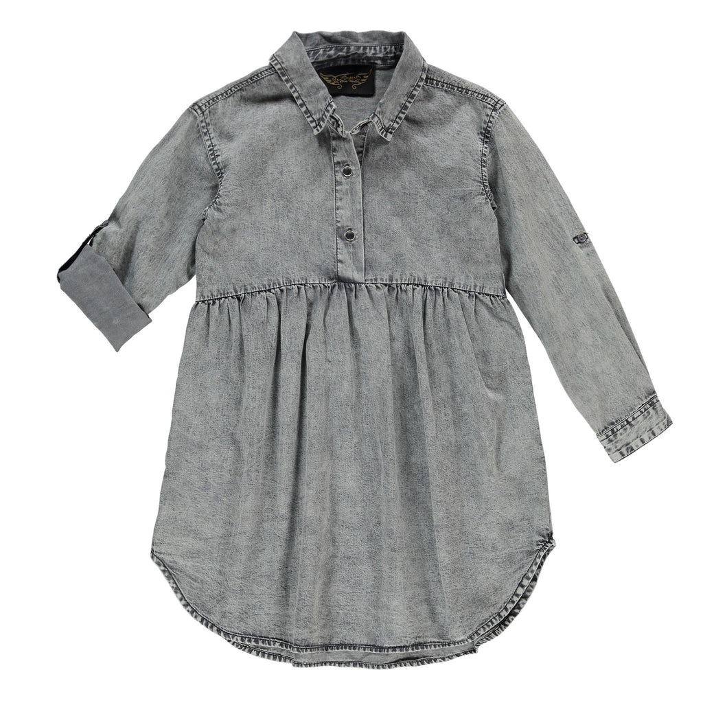 DARLIN Black Snow - Girl Shirt Dress