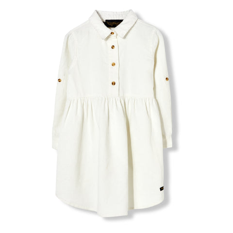 DARLIN Off White Cord - Long Sleeve Dress 1