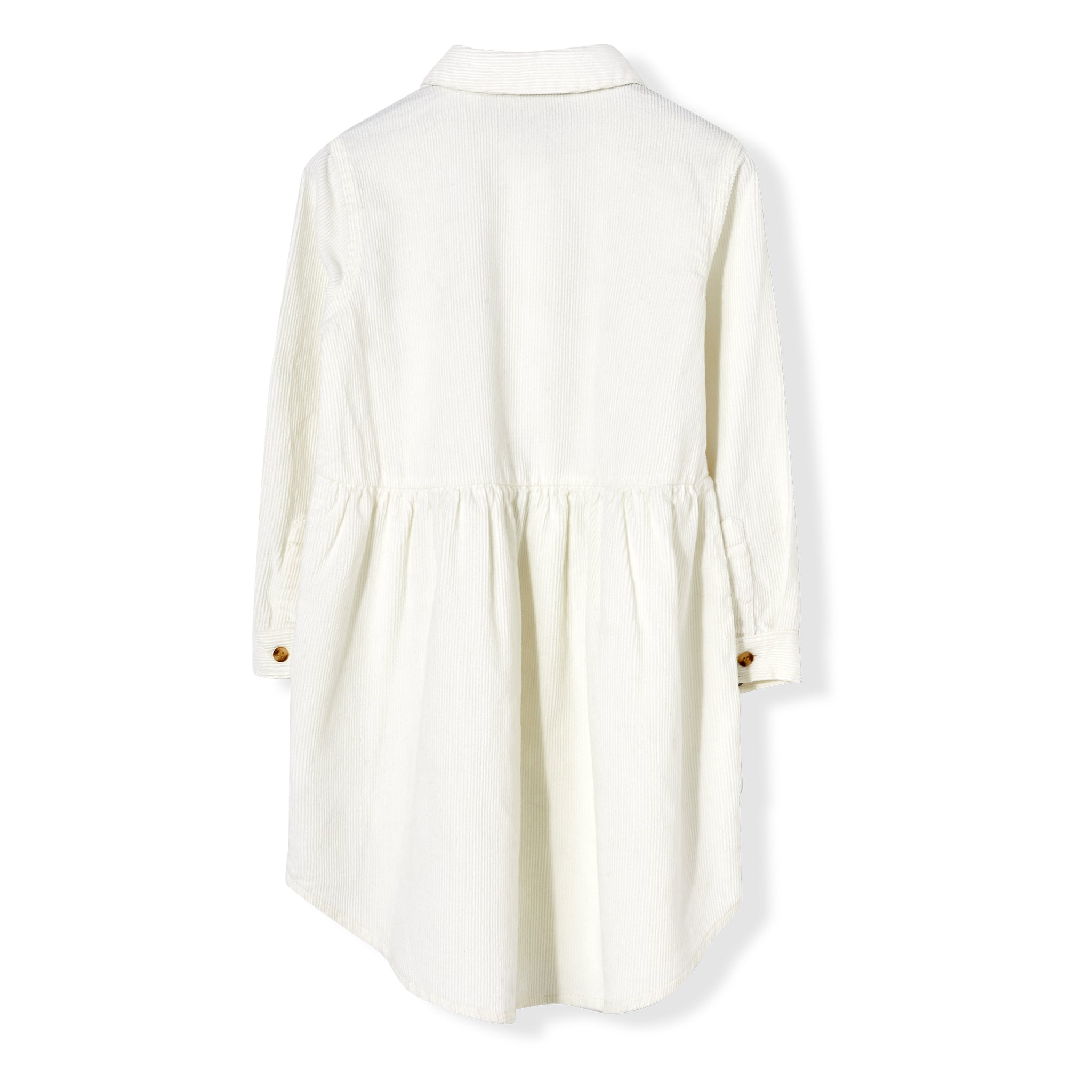 DARLIN Off White Cord - Long Sleeve Dress 3