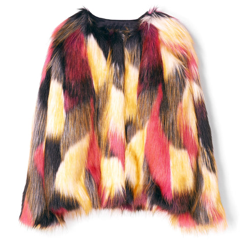DEBBIE Multicolor - Faux Fur Jacket