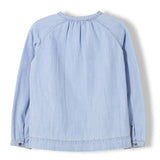 DILLON Bleached Blue - Girl Woven Oversized Long Sleeve Shirt 2