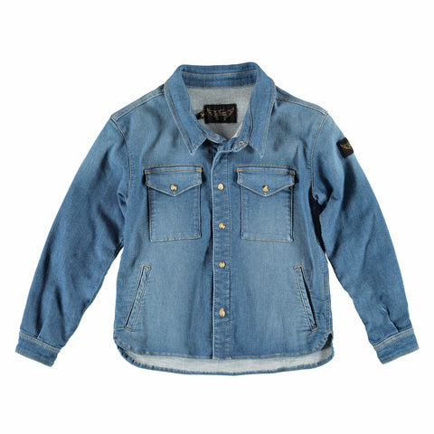 DIVISION Blue Denim - Boy Denim Overshirt