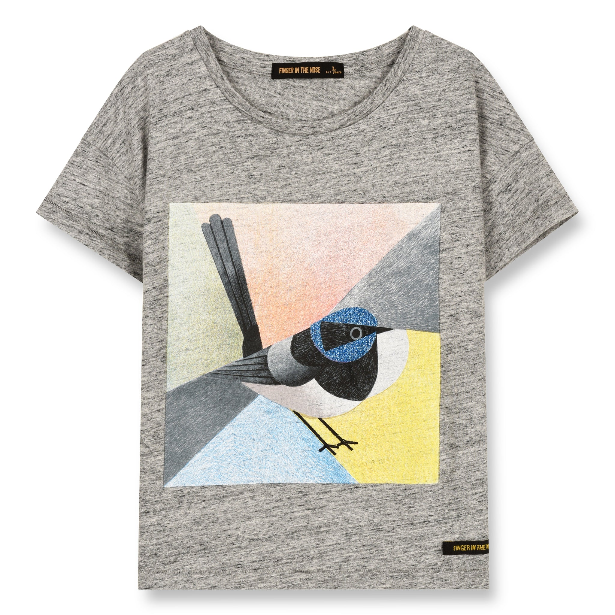 DROP Heather Grey Sparrow - Short Sleeve Cropped T-Shirt 1
