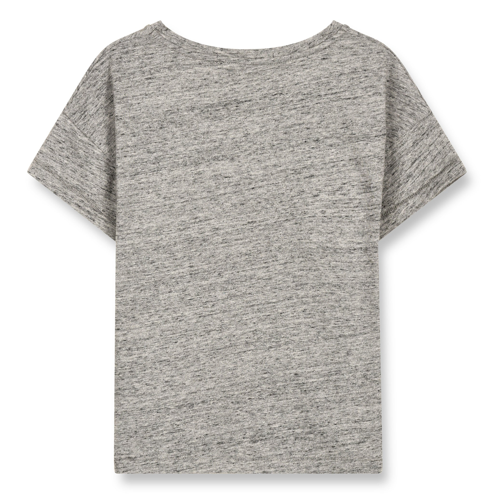 DROP Heather Grey Sparrow - Short Sleeve Cropped T-Shirt 2