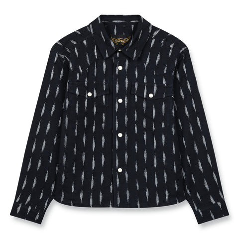 DUSK Indigo Jacquard - Long Sleeve Shirt 1