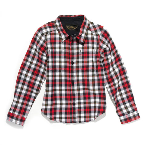 DAVE Off White Checker - Woven Long Sleeve Shirt