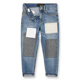 EMMA Blue Denim Patch - 5 Pocket friend Fit Jeans 2