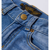 EMMA Blue Denim Patch - 5 Pocket friend Fit Jeans 4