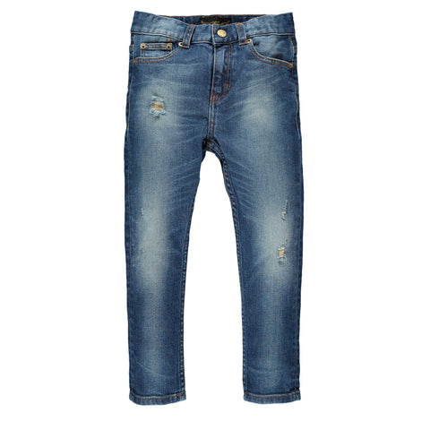 EWAN Dark Dirty Blue - Boy 5 Pocket Comfort Fit Jeans