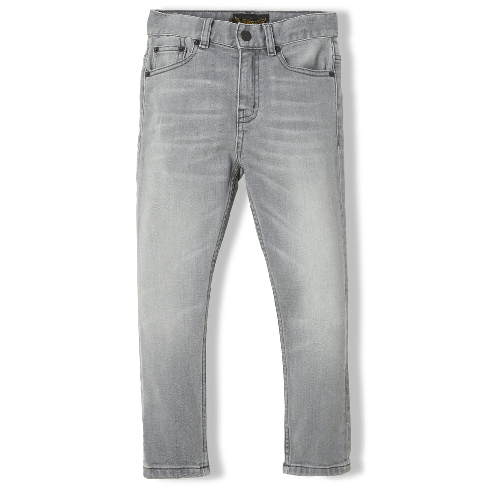 EWAN Light Grey Denim - Boy Woven 5 Pocket Comfort Fit Jeans 1