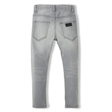 EWAN Light Grey Denim - Boy Woven 5 Pocket Comfort Fit Jeans 2