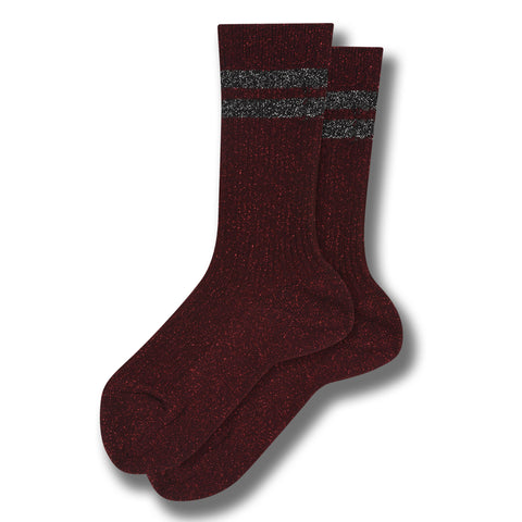 FLORIDA Burgundy Stripes - Socks 1