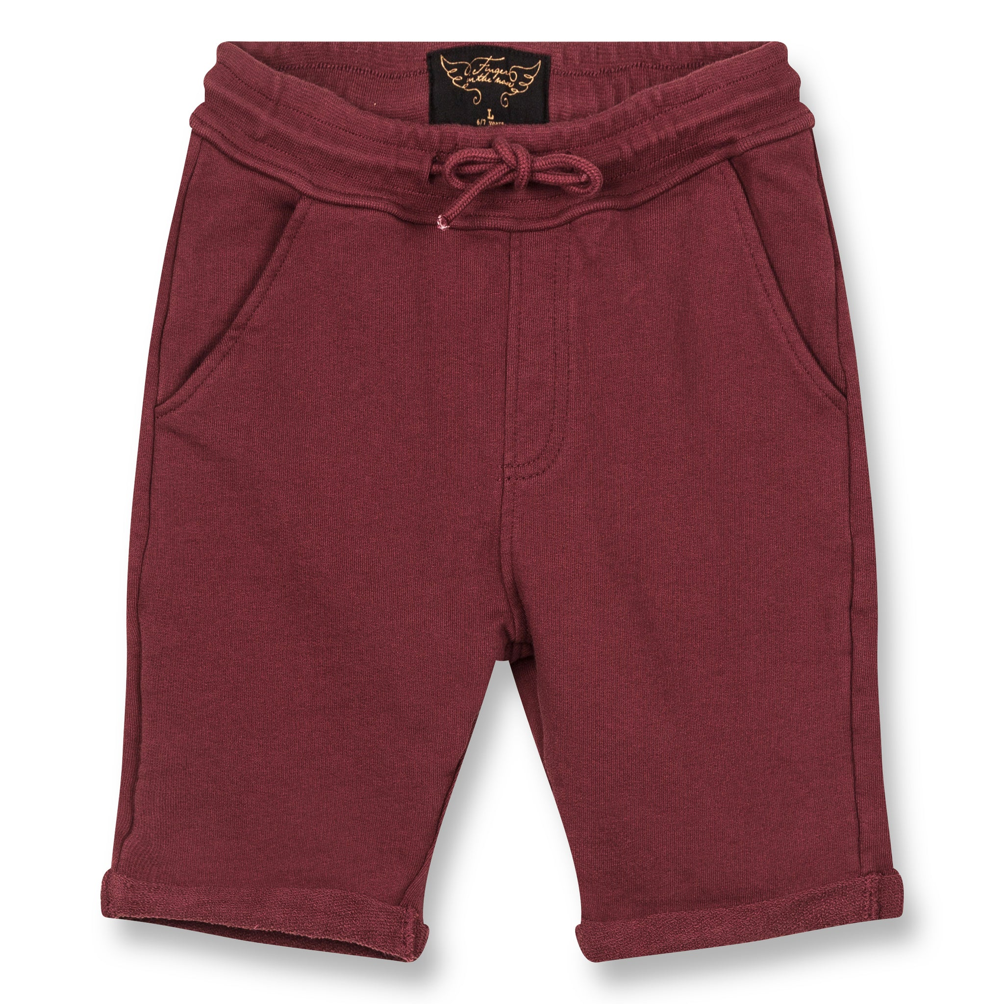 GROUNDED Burgundy - Comfort Fit Bermudas 1
