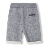 GROUNDED Heather Charcoal - Boy Knitted Fleece Comfort Fit Bermudas 2