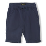 GROUNDED Super Navy - Boy Knitted Fleece Comfort Fit Bermudas 1