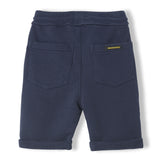 GROUNDED Super Navy - Boy Knitted Fleece Comfort Fit Bermudas 2
