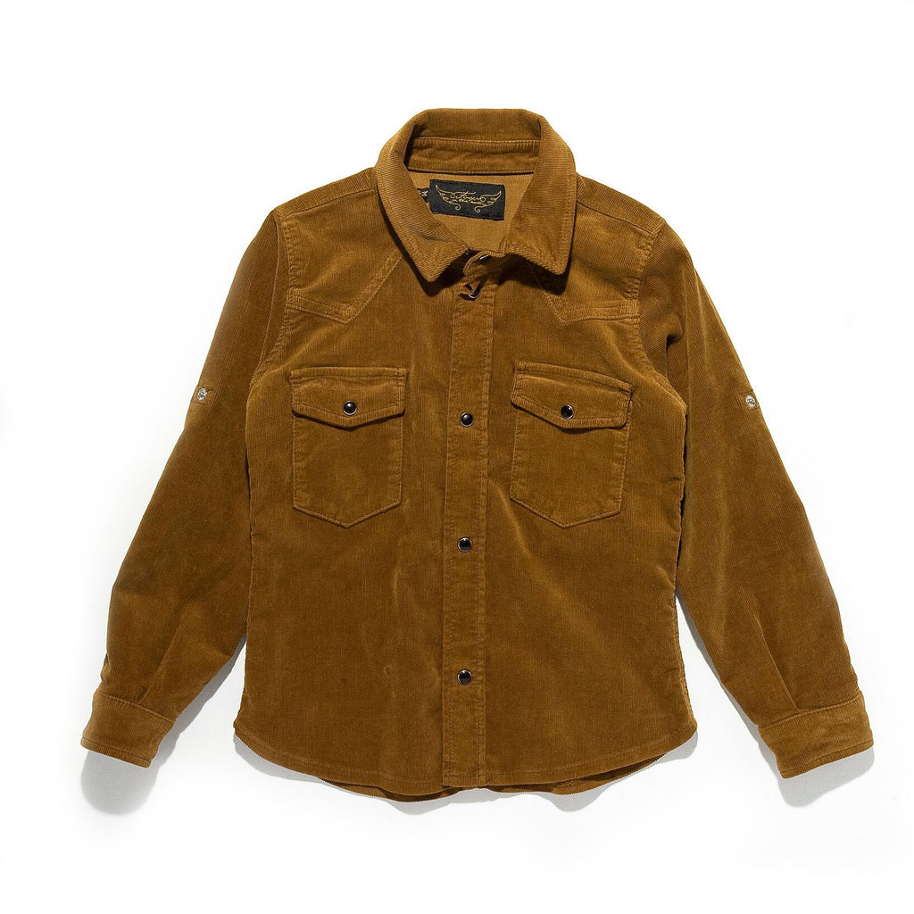 GARY Cord Walnut - Long Sleeve Shirt