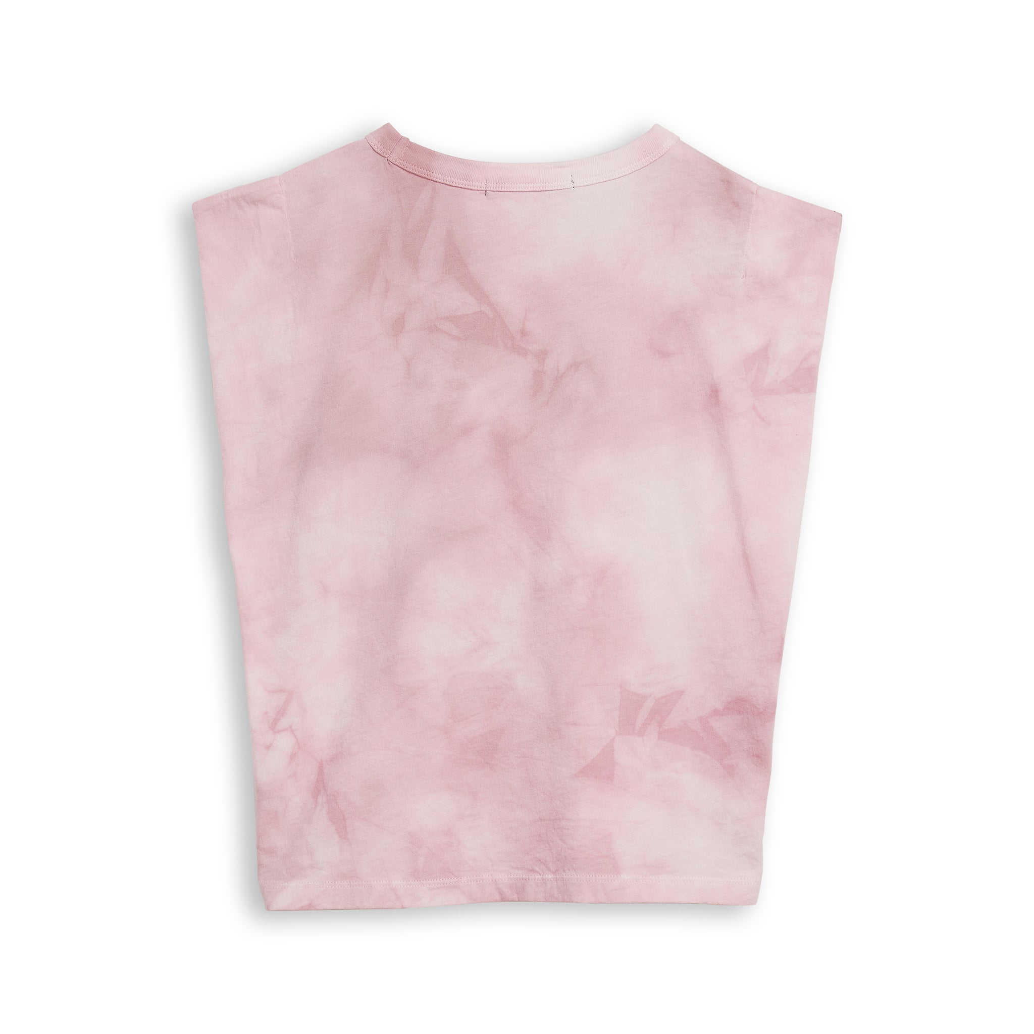 HALEY Pale Pink Tie & Dye - Sleevesless Tee-Shirt 2
