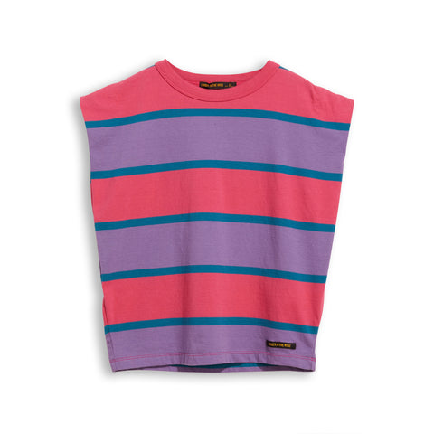 HALEY Pink Stripes - Sleevesless Tee-Shirt 1