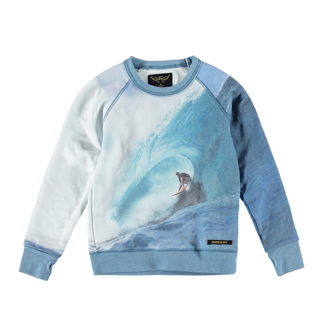 HANK Multicolor Wave Rider - Boy Crew Neck Sweatshirt
