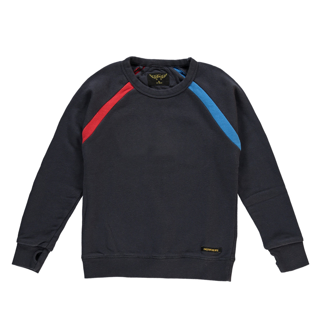 HANK Super Navy - Boy Crew Neck Sweatshirt