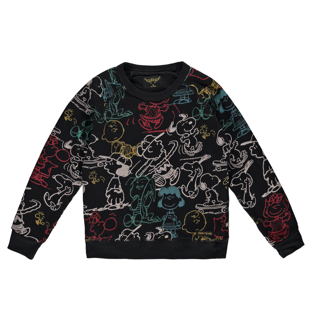 HANK Black Snoopy - Boys Crew Neck Sweatshirt