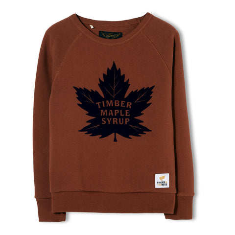 HANK Brick Maple Leaf - Crew Neck Sweater 1