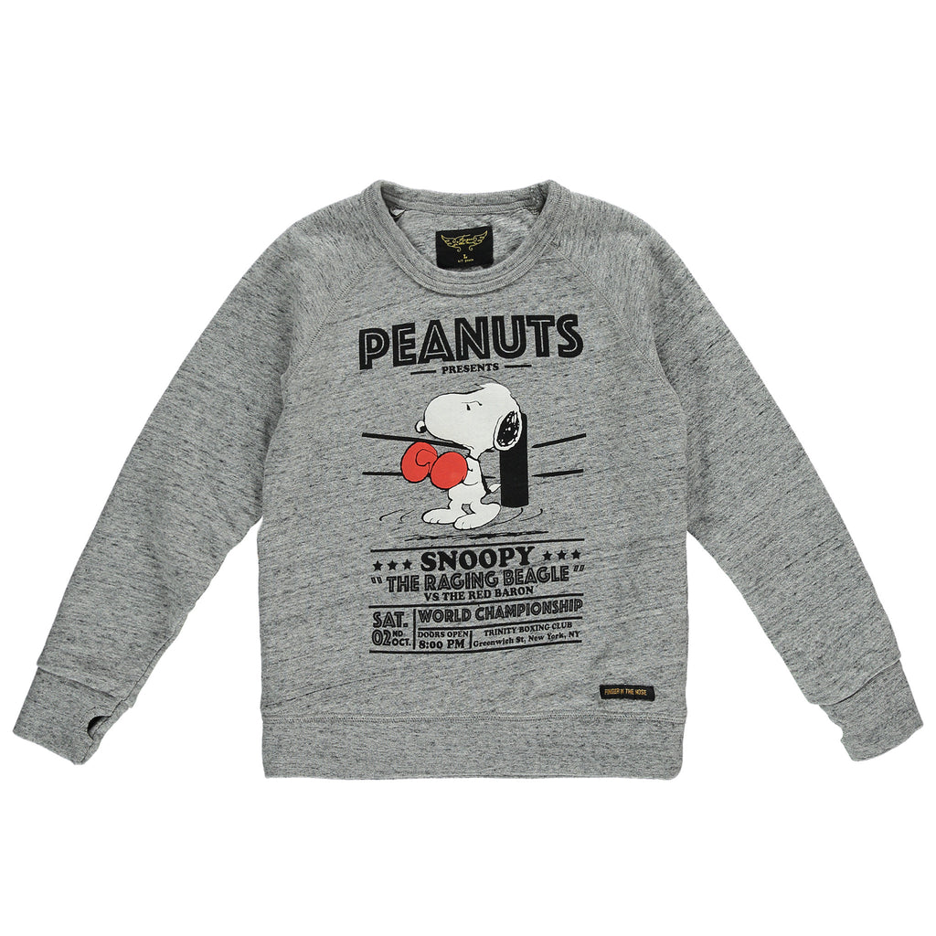 HANK Heather Grey Boxing - Boys Crew Neck Sweatshirt