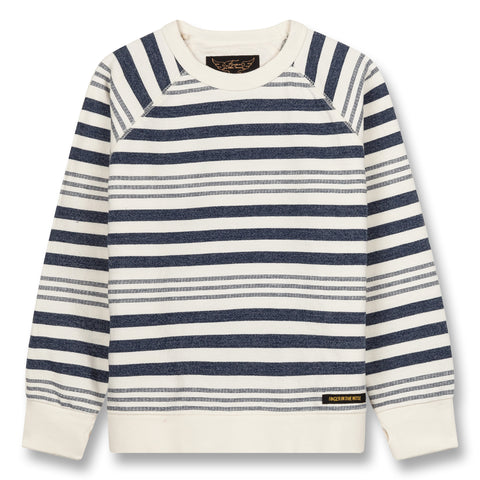 HANK Indigo Stripes - Crew Neck Sweatshirt 1