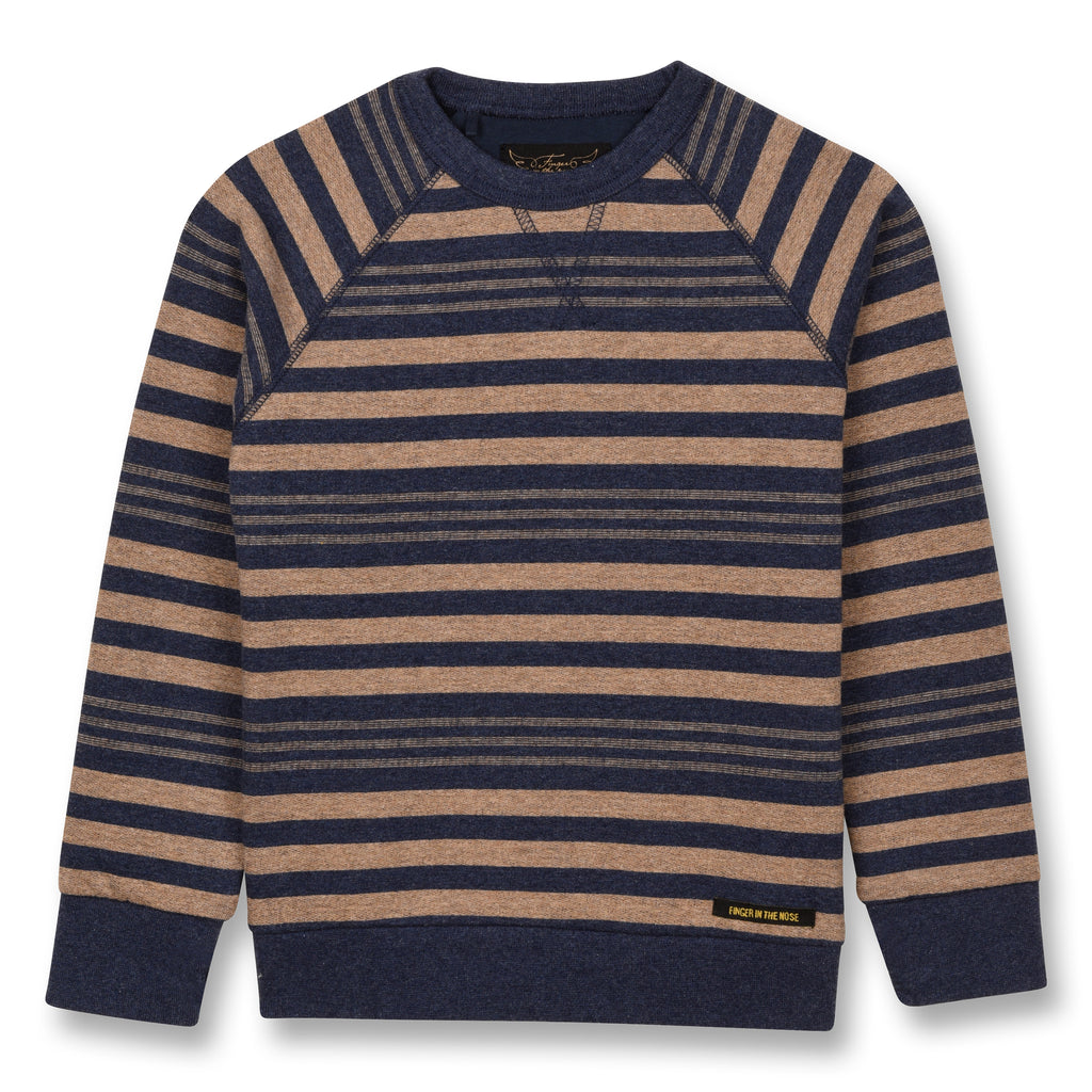 HANK Linen Stripes - Raglan Sleeves Sweatshirt 1