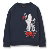 HANK Sailor Blue Ghost Rider - Raglan Sleeves Sweatshirt 1