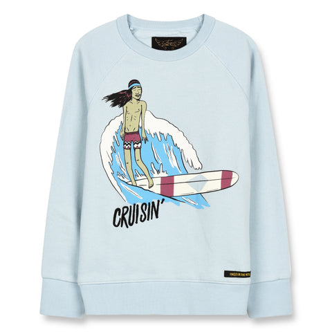 HANK Wave Blue Cruisin - Crew Neck Sweatshirt 1