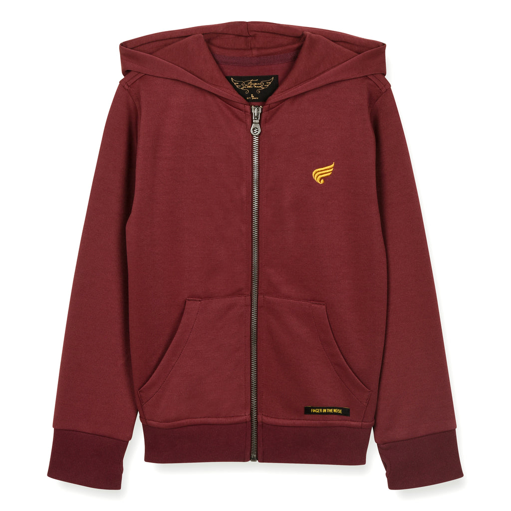 HAYDEN Burgundy - Zipped Hoody