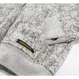 HAYDEN Heather Cloud Simpsons Crowd - Unisex Knitted Zipped Hoody 4 js-nozoom