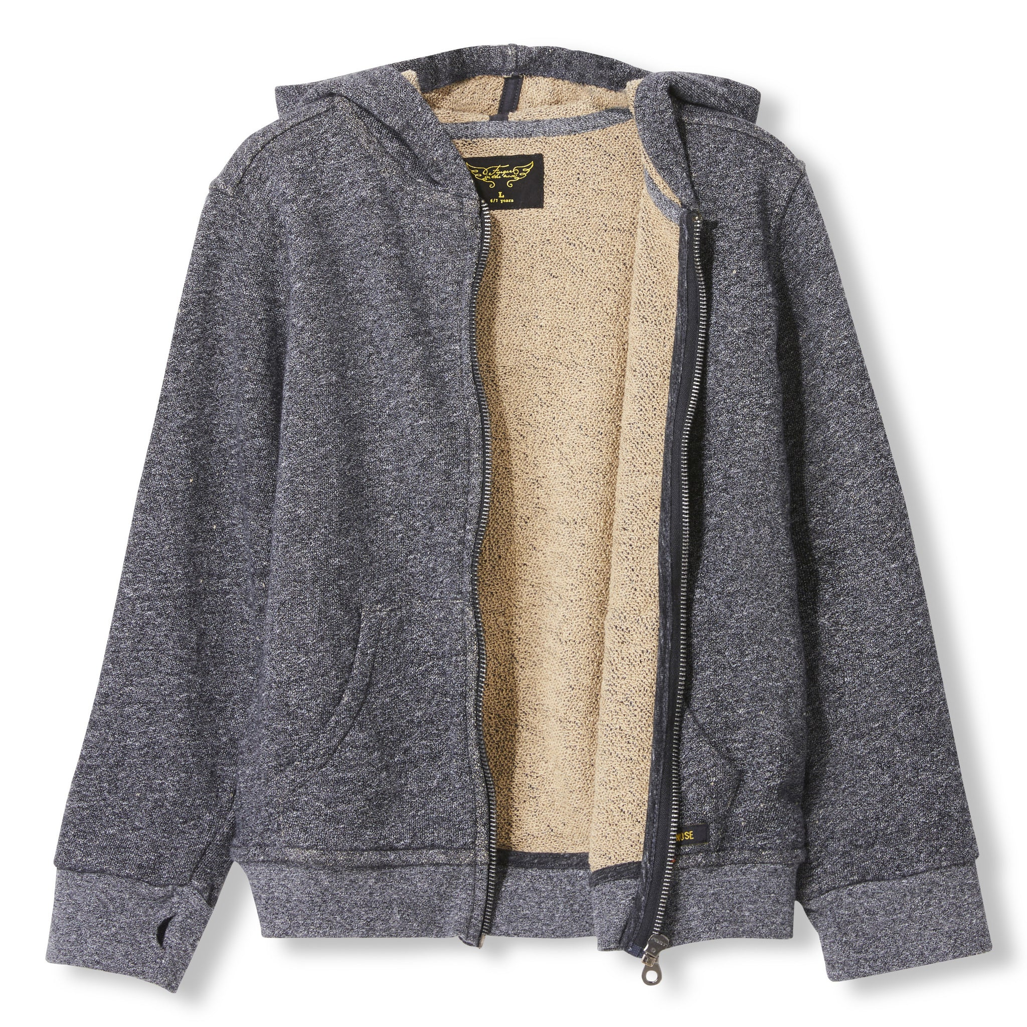 HAYDEN Heather Coal -  Knitted Zipped Hoody 2