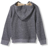 HAYDEN Heather Coal -  Knitted Zipped Hoody 3