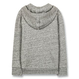 HAYDEN Heather Grey - Zipped Hoody 2
