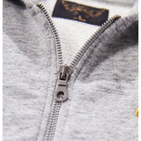 HAYDEN Heather Grey - Zipped Hoody 3