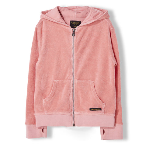 HAYDEN Milky Pink - Unisex Knitted Zipped Hoody 1