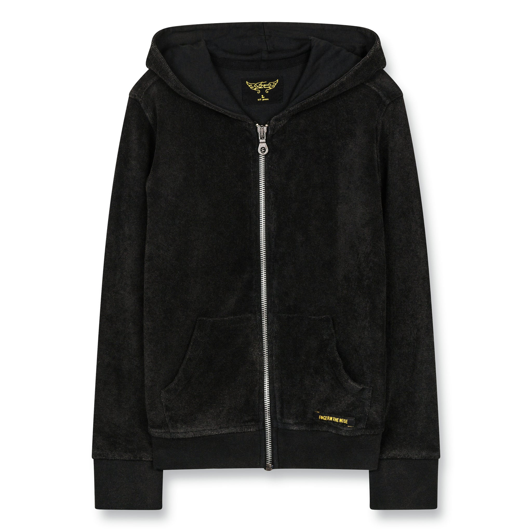 HAYDEN Vintage Black - Zipped Hoody 1